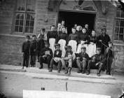 Owain Glyndwr Hotel servants, Corwen (1871)