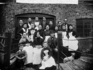 Workers of the Hosiery Depot, Llanidloes