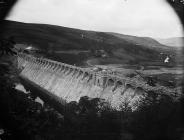 Building the dam, Llanwddyn