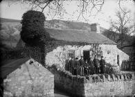 Williams family in front of their house