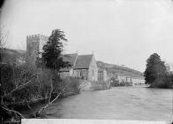 church on the banks of Afon Teifi, Llandysul (Cer)