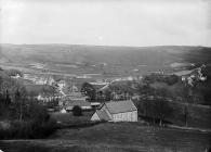 view of Llansanffraid Glynceiriog from Llwyn-copog