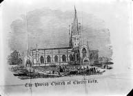 parish church, Chesterfield (print)