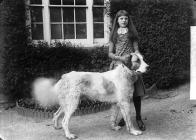 Girl with a dog, Llansanffraid Glynceiriog?
