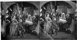Family devotions (stereograph)