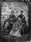 group including a man, a woman and five children