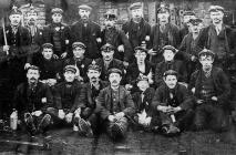 Officials and workmen at Darren Colliery