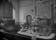 Interior of Wesley chapel, Builth Wells