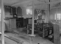 Interior of Maesyronnen chapel, Glasbury