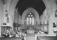 Interior of St. Mary's church, Builth Wells