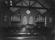 Interior of Horeb Congregational Church, Builth...