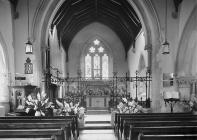 Interior of St Winifrid's church, Cwmdeuddwr