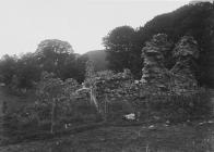 Archaeological ruins at Abbeycwmhir