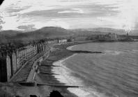 View of Aberystwyth sea front looking south...