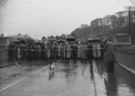 Opening of the Irfon bridge, near Builth Wells