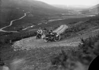 Motorcycle racing in Rhayader on the old road...
