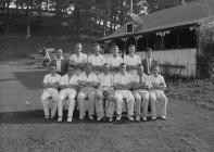 Mens cricket team at Builth Wells