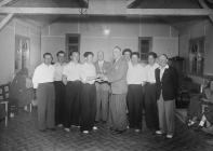 Cup presentation by ex-police Sergeant Hibbert,...