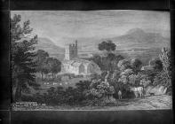 Old Radnor church in 1828
