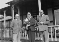 Three men outside Llandrindod Golf Club...