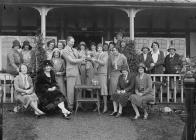 Group of women golfers outside Llandrindod...