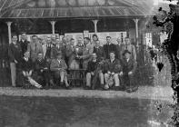 Group of gentlemen golfers outside Llandrindod...