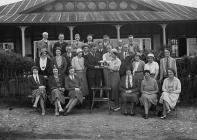 Group outside Llandrindod Wells Golf Club...