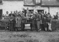 Presentation of golfing trophies, Builth Wells