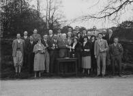 Presentation of golfing trophies