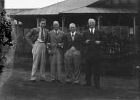 Four men outside Llandrindod Wells Golf Club...