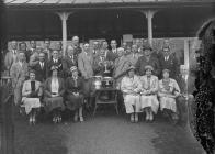 Group of golfers outside Llandrindod Wells Golf...