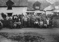 Group of gentlemen and women golfers, Builth...