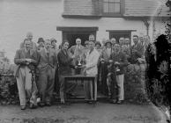 Presentation of a trophy to a golfer at Builth...