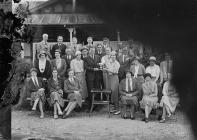 Group outside Llandrindod Wells Golf Club...