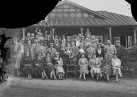 Group of golfers outside Llandrindod Wells Golf...