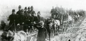 A convoy of policemen