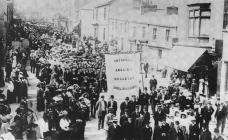 A Sunday School Parade down Morgan Street,...