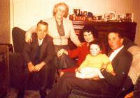 Teulu yn y lolfa, 1950au