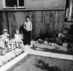 Family enjoying in the garden