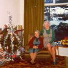 Two ladies in the lounge at Christmas