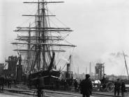 The Terra Nova loading in Bute East Dock,...