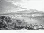 The Menai bridge, from the Anglesey side