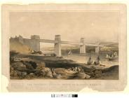 The Britannia Tubular Bridge over the Menai...