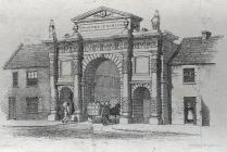 Proposed entrance to Carmarthen Market