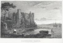 Llaugharne Castle (sic), Caermarthenshire
