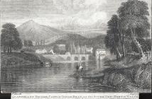 Llangollen bridge, castle Dinas Bran