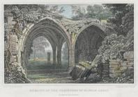 Remains of the cloisters of Margam abbey,...
