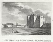 The tower in Cardiff castle, Glamorganshire