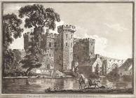 The south gate of Cardiff castle in Glamorgan...