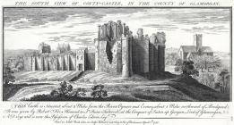 The south view of Coyty-castle, in the county...